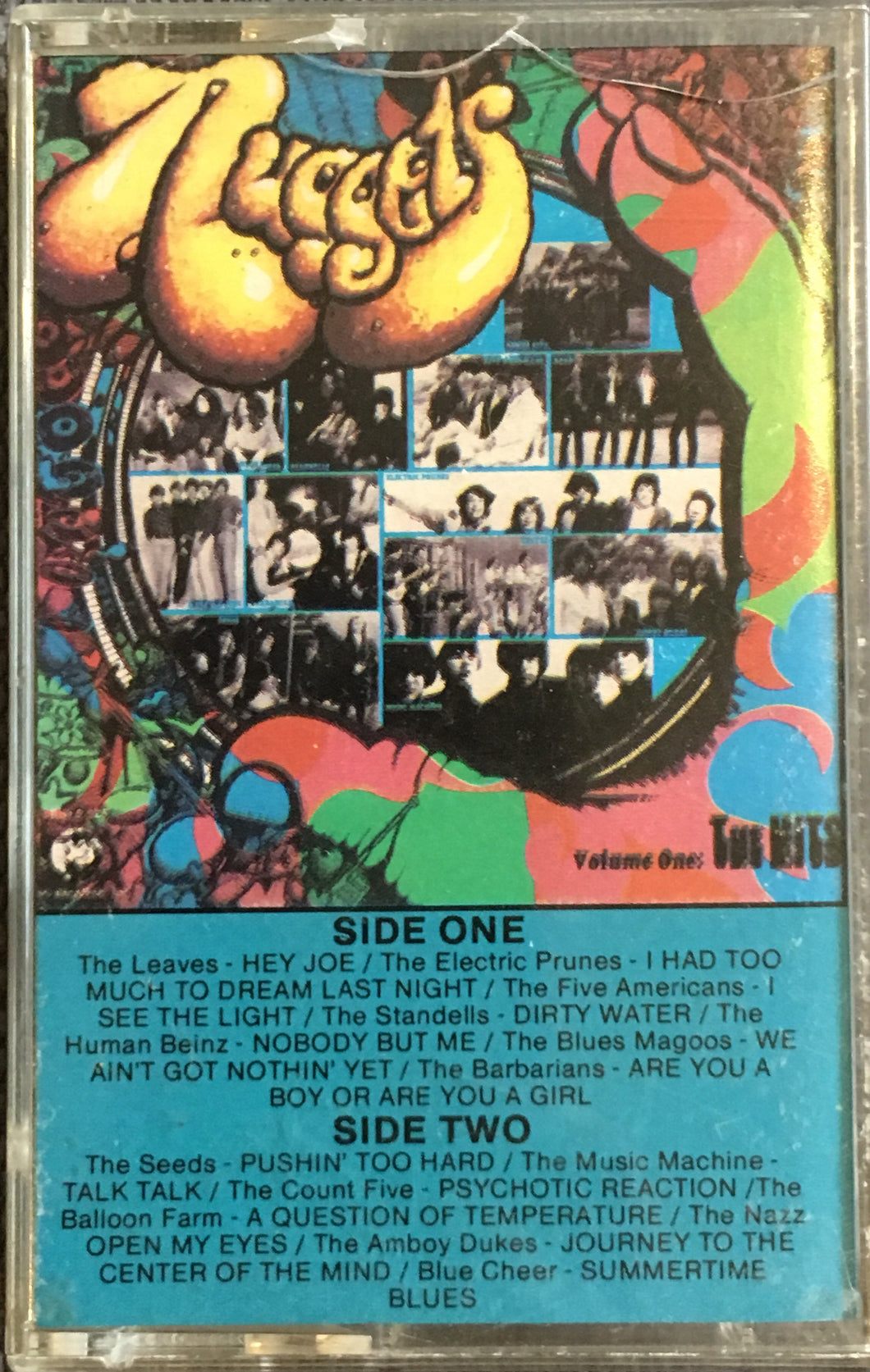 Nuggets Psychedelic Compilation Volume One The Hits Cassette