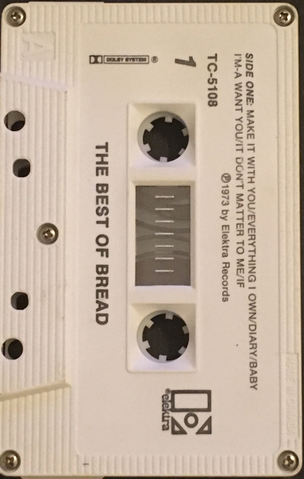Bread - The Best Of Cassette *No J Card