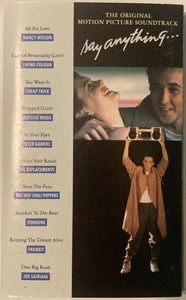 Say Anything Soundtrack Cassette VG
