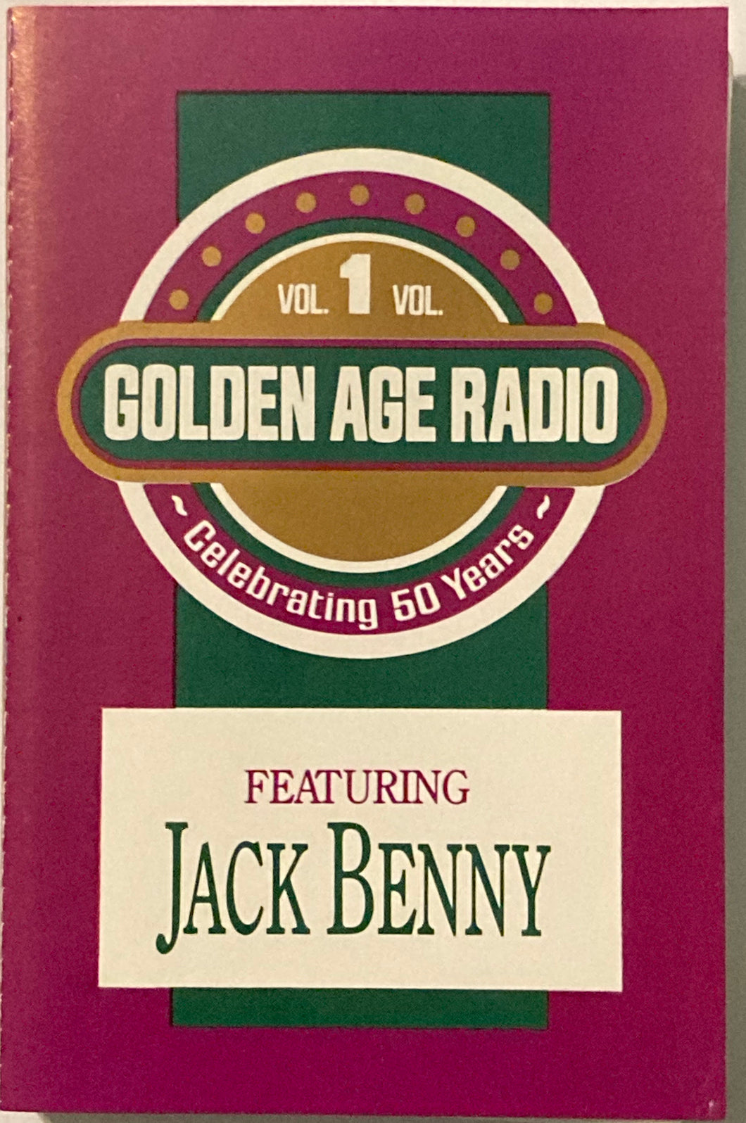 Golden Age Radio Vol. 1 Featuring Jack Benny Cassette G+