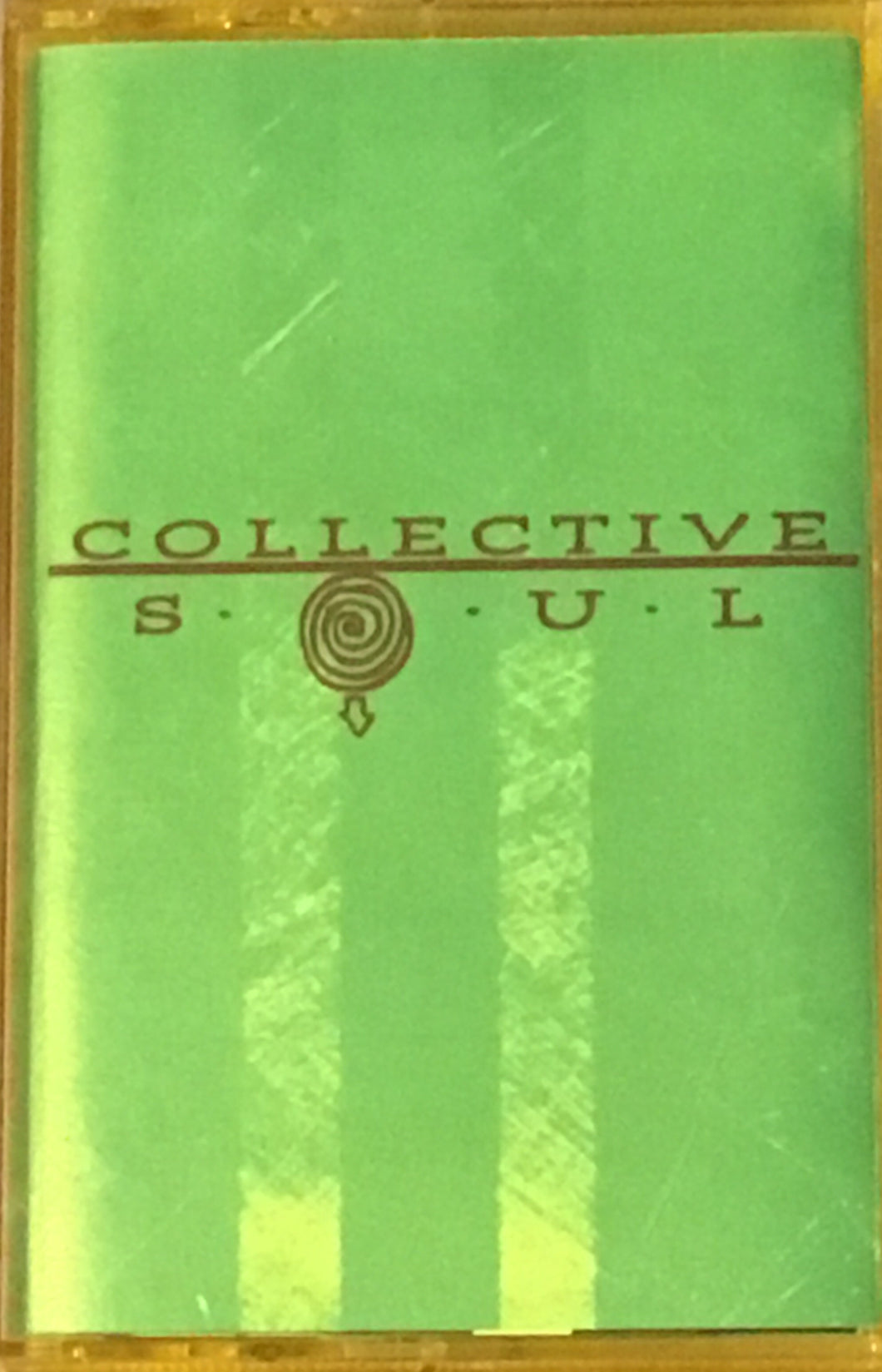 Collective Soul s/t cassette with yellow tint case/appears green VG