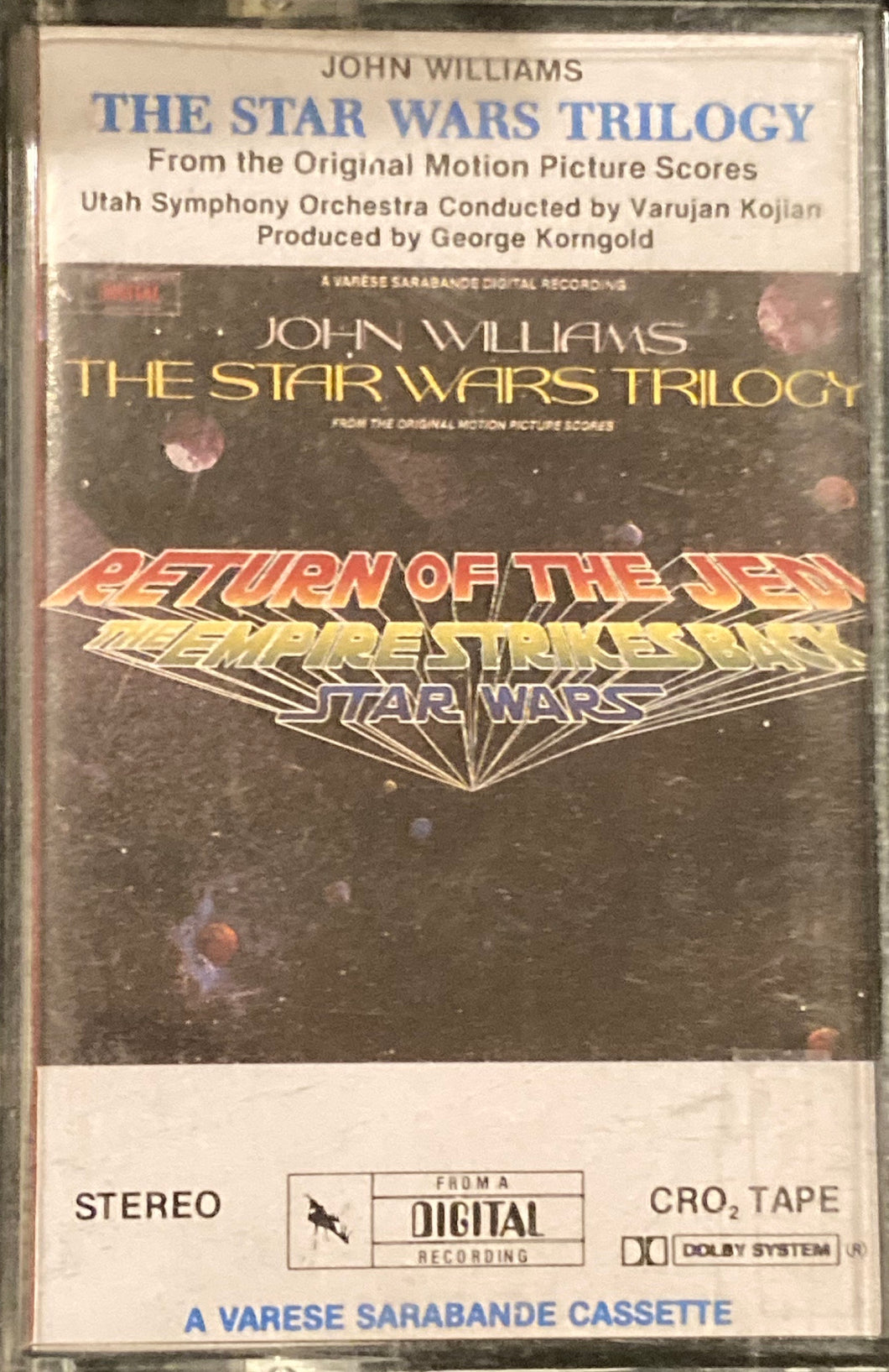 John Williams Star Wars Trilogy by Utah Symphony Orchestra Cassette Good