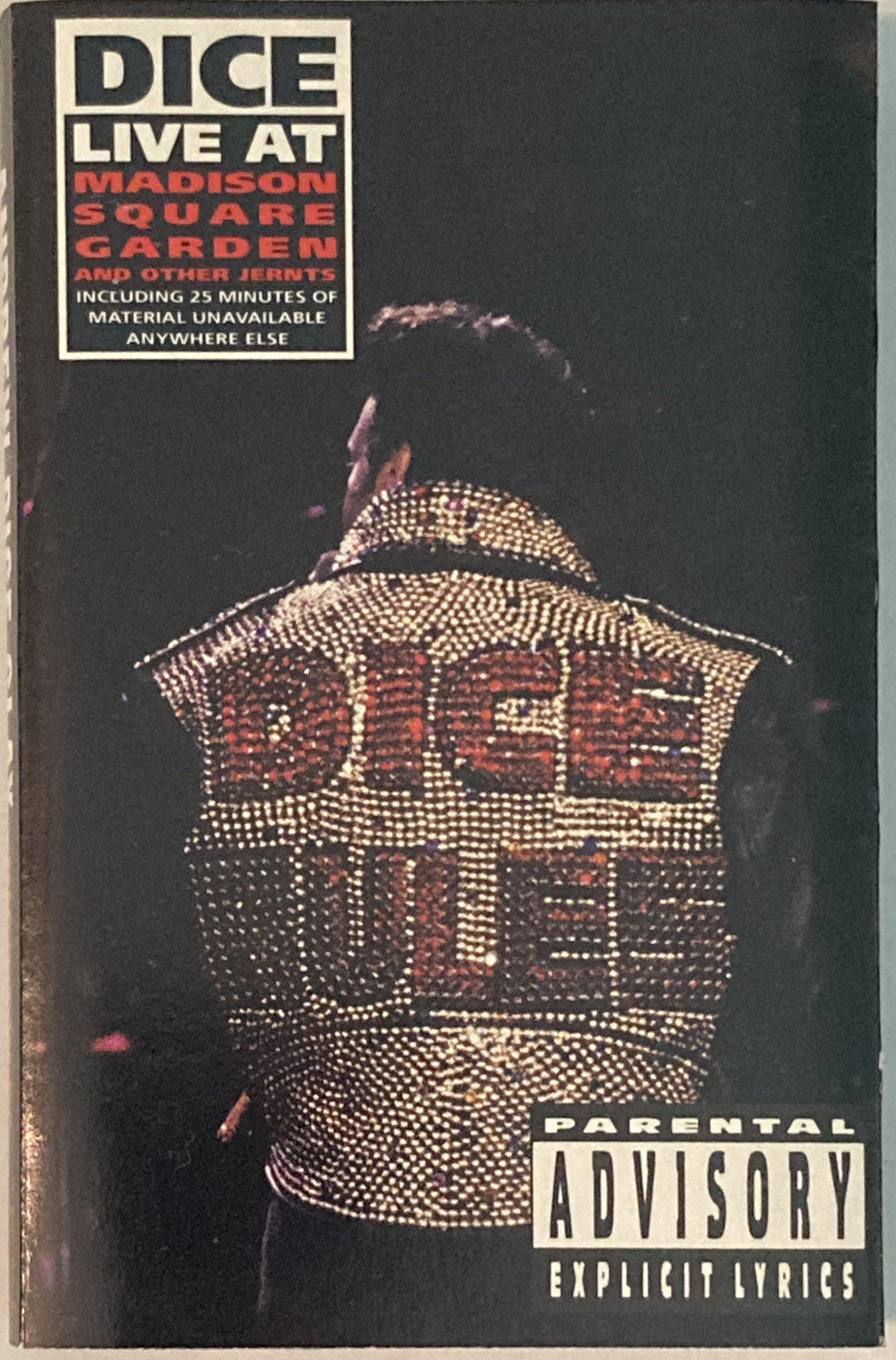Andrew Dice Clay - Dice Live At Madison Square Garden Cassette VG+