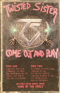 Twisted Sister - Come Out And Play Cassette G+