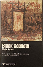 Load image into Gallery viewer, Black Sabbath - Mob Rules Cassette (see notes) Fair/good/as is