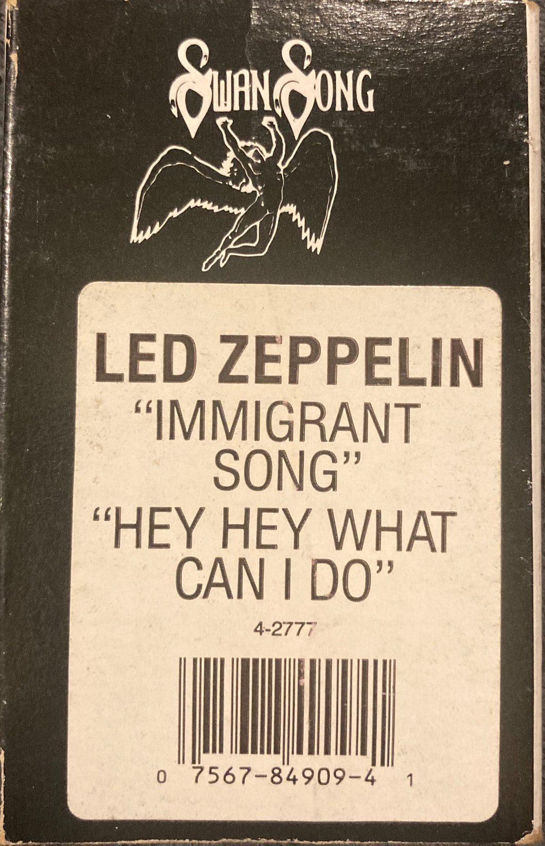 Led Zeppelin - Immigrant Song/ Hey Hey What Can I Do Cassingle