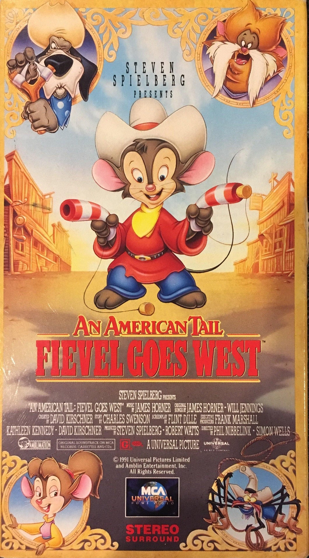 An American Tail: Fievel Goes West VHS