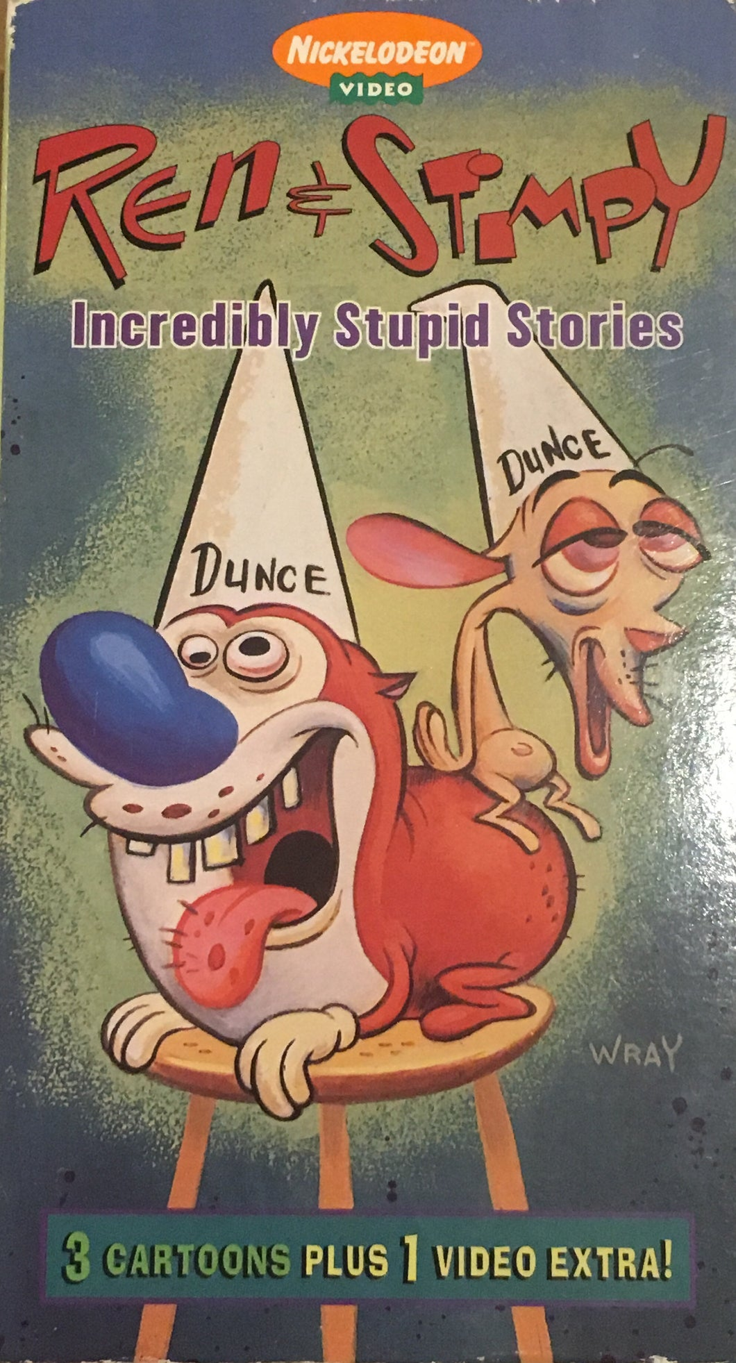 Ren & Stimpy Incredibly Stupid Stories VHS