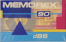 Load image into Gallery viewer, Memorex dBS (classic!) 90 Minute Blank Cassette Sealed