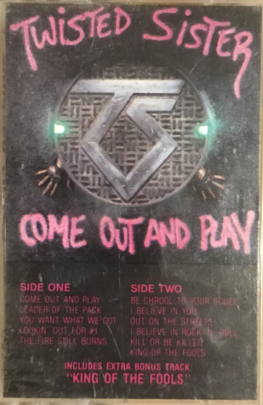 Twisted Sister Come Out And Play Cassette