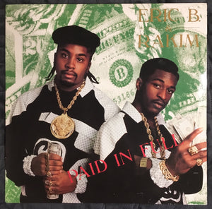 Eric B and Rakim Paid In Full Pink Label Reissue Vinyl VG+