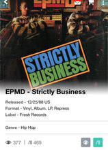 Load image into Gallery viewer, EPMD Strictly Business Reissue Vinyl See Photos VG+