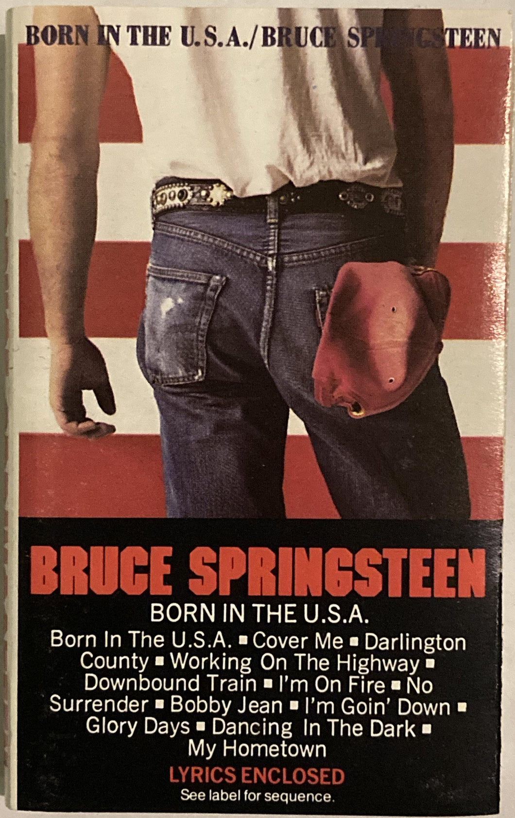 Bruce Springsteen - Born In The USA CASSETTE TAPE VG+ - 3rdfloortapes.com