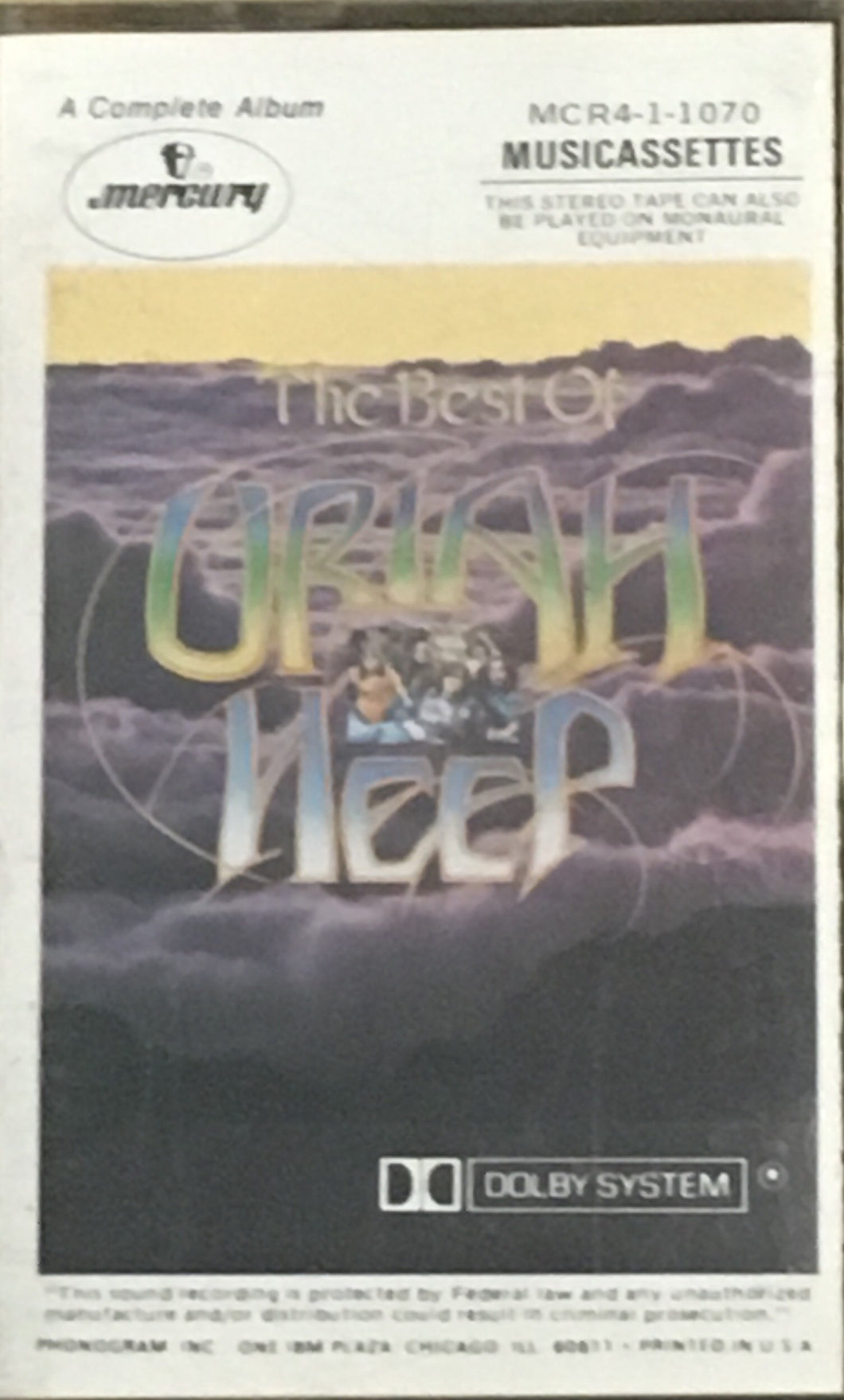 Uriah Heep Greatest Hits Cassette