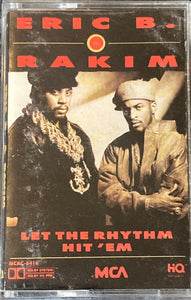Eric B & Rakim - Let The Rhythm Hit 'Em Cassette VG