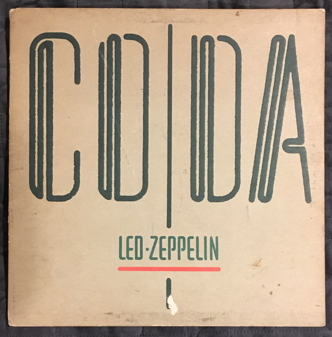 Led Zeppelin Coda Vinyl G+