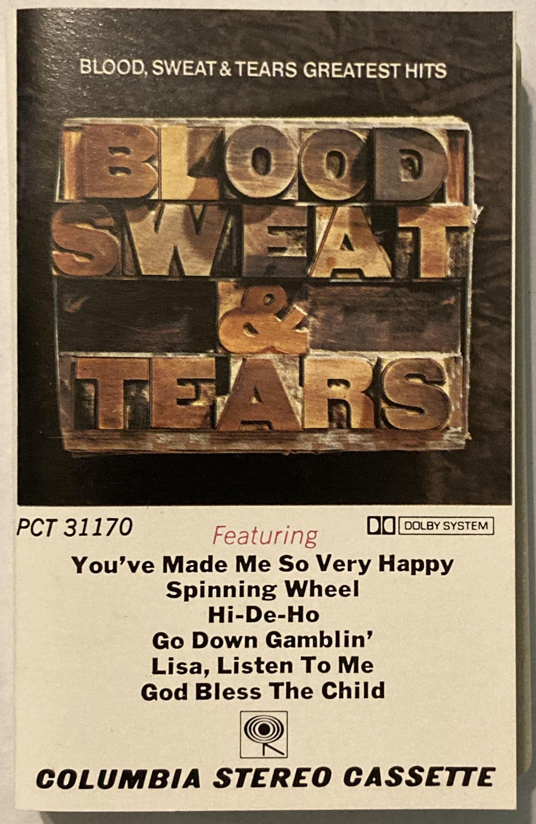 Blood Sweat & Tears - Greatest Hits Cassette VG