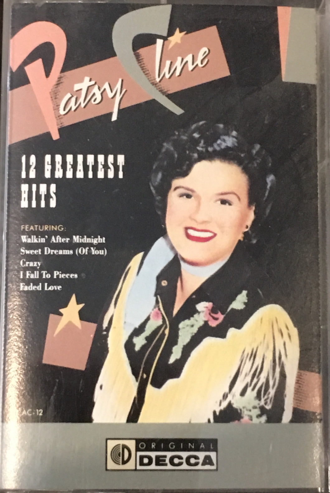 Patsy Cline - Greatest Hits Cassette VG