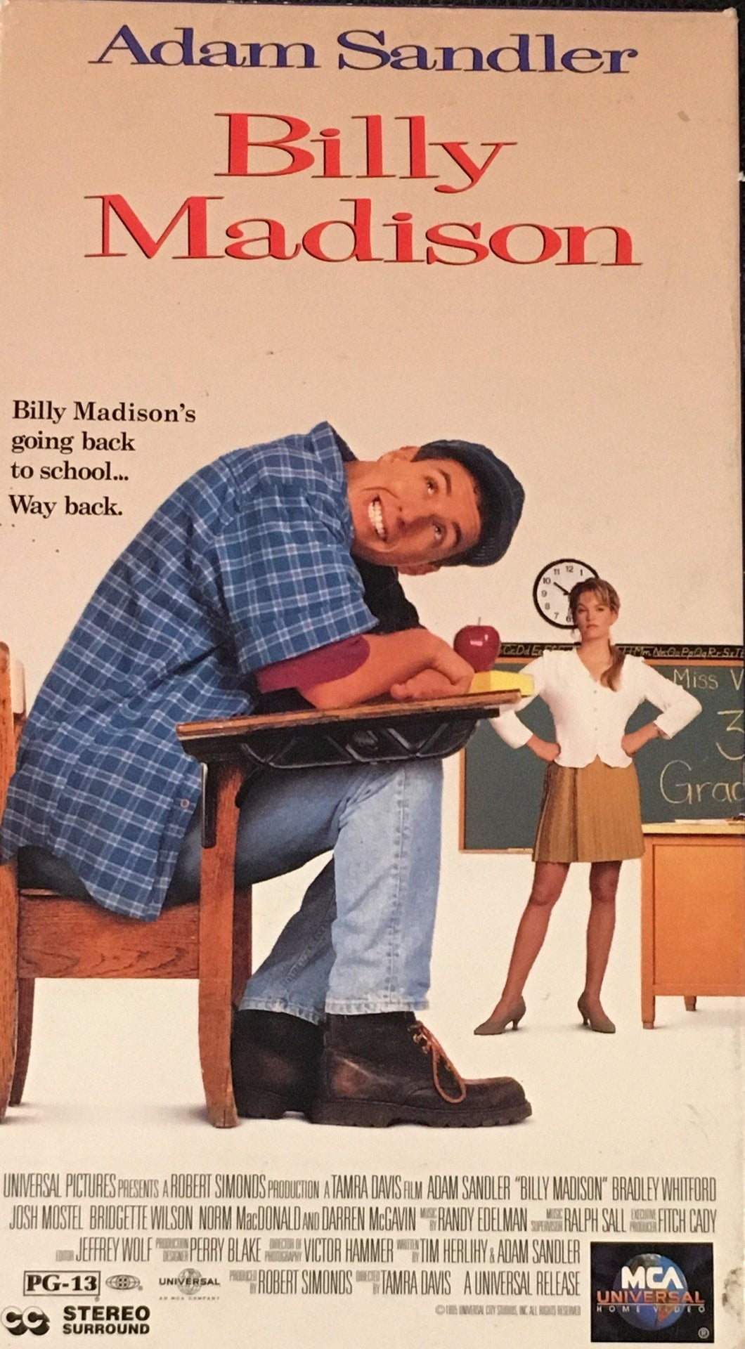 Billy Madison Adam Sandler VHS