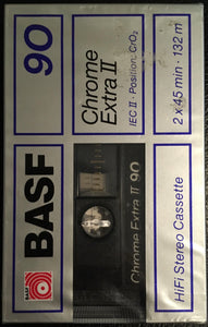 BASF Chrome II 90 Blank Cassette Sealed