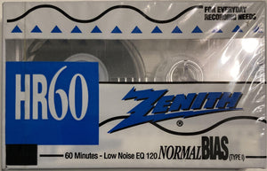 Zenith 60-Minute Blank Cassette Sealed/presumed mint