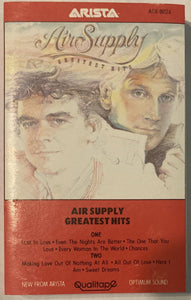 Air Supply - Greatest Hits Cassette VG