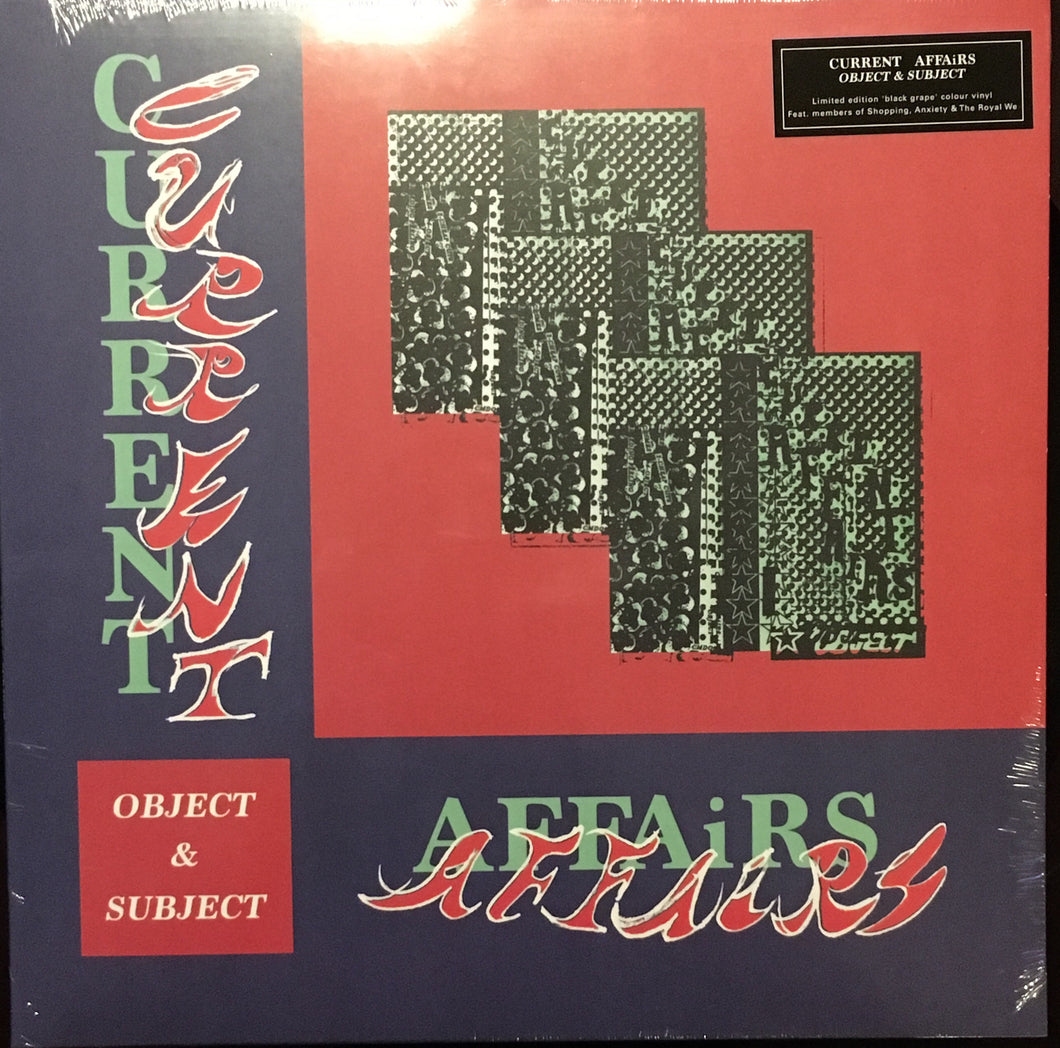 Current Affairs Object and Subject🔥🔥 Grape Color Vinyl NEW