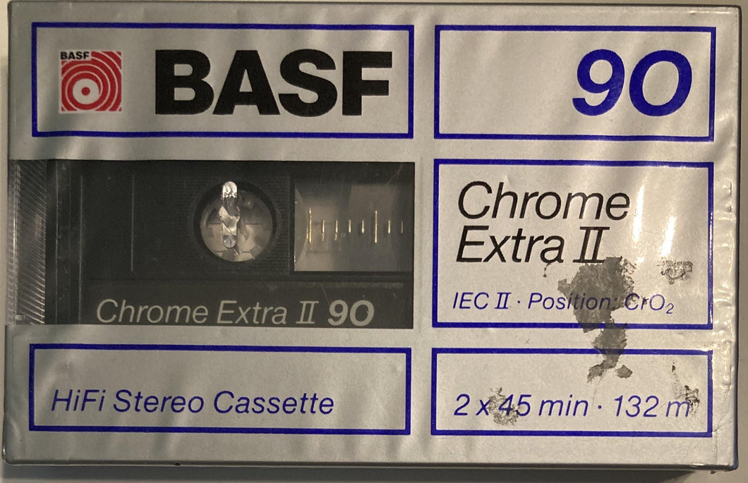 BASF Chrome Extra II Blank Cassette Sealed/presumed mint
