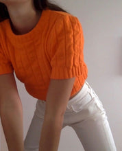 Load image into Gallery viewer, Knit top Bobbie orange