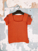 70'S HAND KNITTED TOP