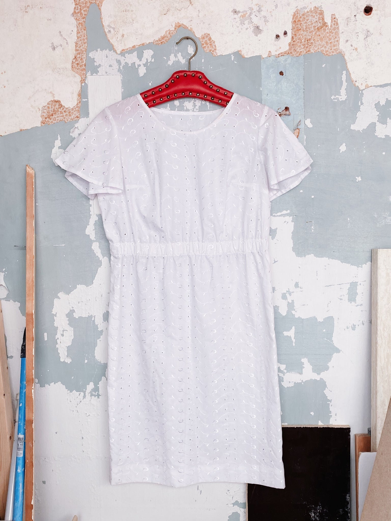 ANGLAISE BRODERIE COTTON DRESS