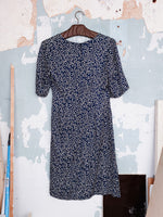 SILK PRINTED WRAP DRESS