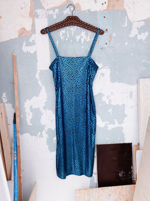 METALLIC DISCO DRESS