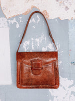 TAN SNAKE LEATHER BAG