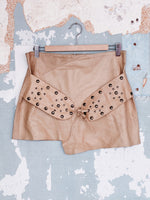 70'S ITALIAN LEATHER MINI SKIRT
