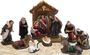 Nativity Set w/ Stable