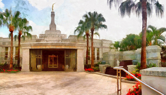 Brisbane Temple Canvas Print (front)