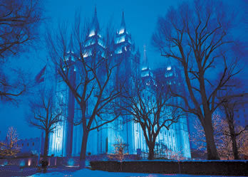 Salt Lake Temple, Winter Night