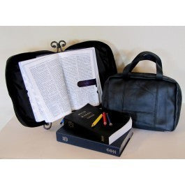 Large Print Leather Scripture Tote