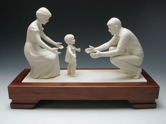 In the Family Circle Porcelain Figurine