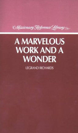 A Marvelous Work and Wonder (Paperback)