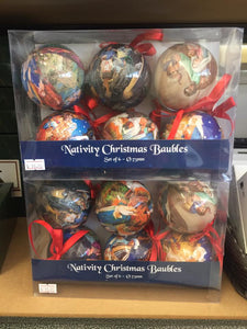 Nativity Christmas Baubles (Set of 6)