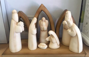 One Piece Nativity Scene (Carved Look) - 230mm