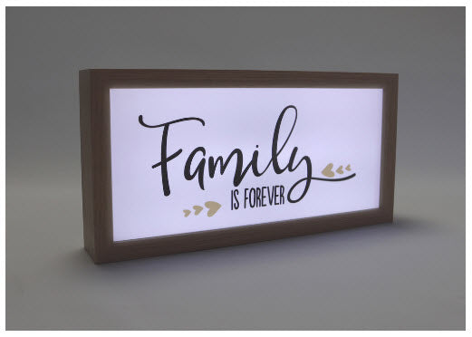 Family is Forever (Light Box)