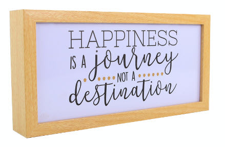 Happiness Is a Journey (Light Box)