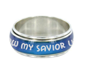 I Know My Savior Lives (Spinner Mood Ring )