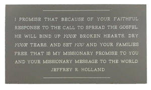 Missionary Message to the World (Plaque)