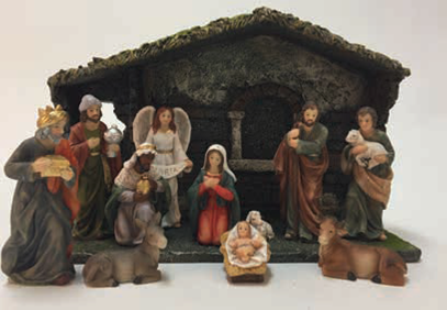 11 pc Nativity Set and Stable