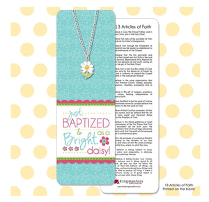 Baptism Daisy Bookmark & Necklace Set