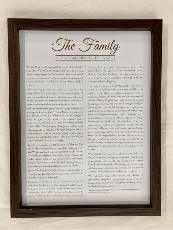 Framed Family Proclamation